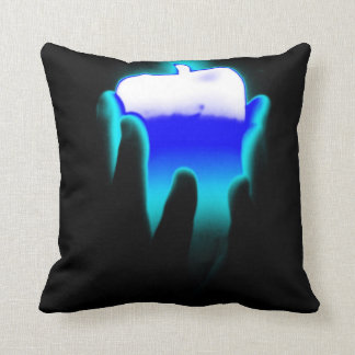 Holding Candle pillow neon