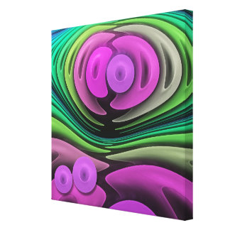 Holding each other, abstract fractal wallart canvas print