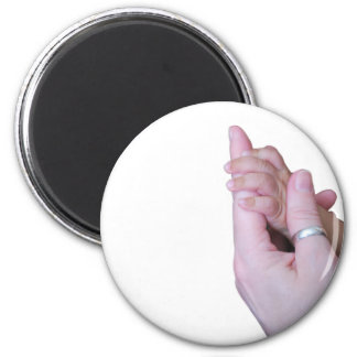 Holding Hands 2 Inch Round Magnet