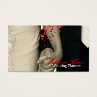 holding hands Balack and white wedding Business Card