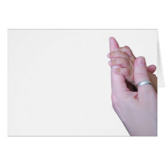 Holding Hands Card
