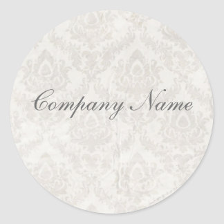 holding hands damask wedding planner business classic round sticker