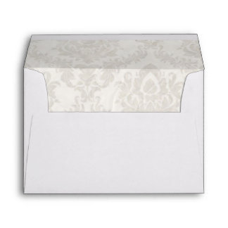 holding hands damask wedding planner business envelope
