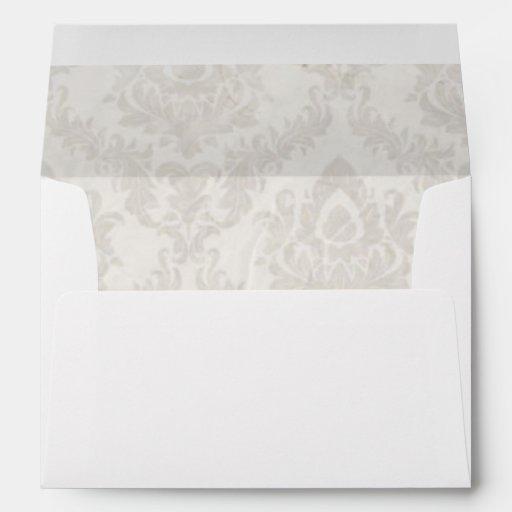 holding hands damask wedding planner business envelope