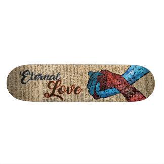 Holding Hands,Eternal Love,Space Dictionary Art Skateboard Deck