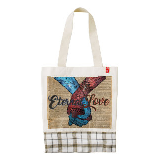 Holding Hands,Eternal Love,Space Dictionary Art Zazzle HEART Tote Bag