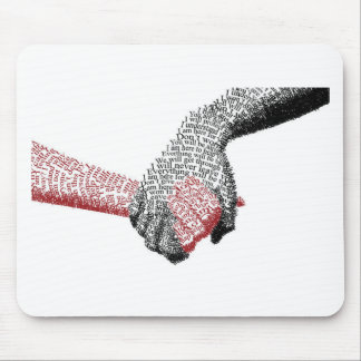 Holding Hands, Love conquers all Mouse Pad