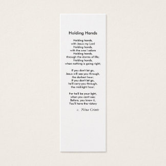 Holding Hands, Mini Business Card