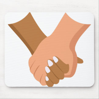 Holding Hands Mouse Pad