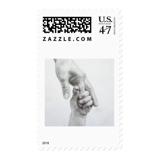 Holding hands postage