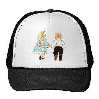 Holding Hands Running Away Trucker Hat