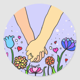 Holding hands stickers
