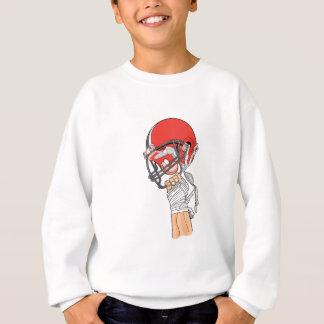 holding helmet high football design sweatshirt