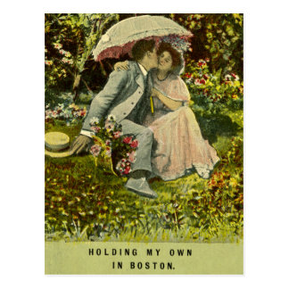 Holding My Own in Boston Postcard