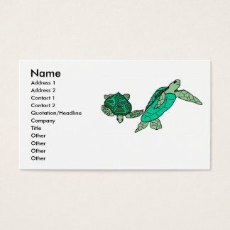 Holding on sea turtles business cards