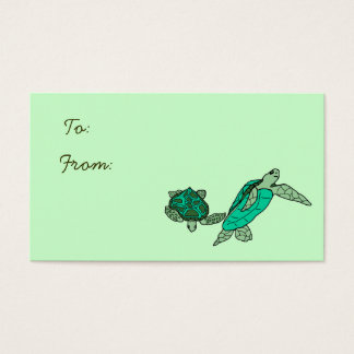 Holding on sea turtles gift tags