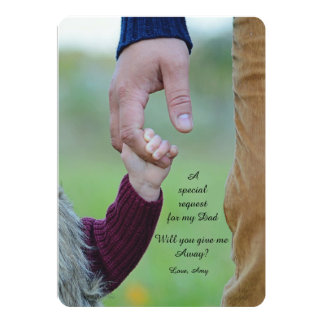 Holding On Tight Father Request Card