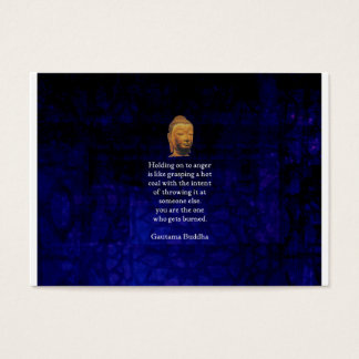 Holding On To Anger Inspirational Buddha Quote Business Card