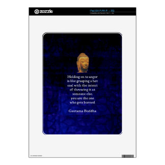Holding On To Anger Inspirational Buddha Quote Decal For iPad