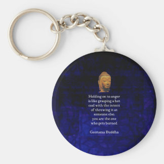 Holding On To Anger Inspirational Buddha Quote Keychain