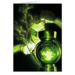 Holding the Green Lantern Card
