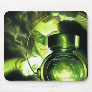 Holding the Green Lantern Mouse Pads
