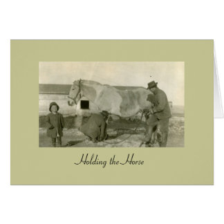 Holding the Horse Stationery Note Card