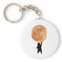 Holding the Moon Keychain