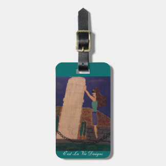 Holding Up the Leaning Tower of Pisa Luggage Tag
