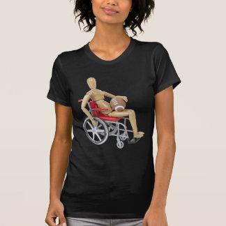 HoldingFootballWheelchair T-shirt