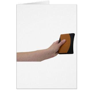 HoldingHardDrive072709 Greeting Cards