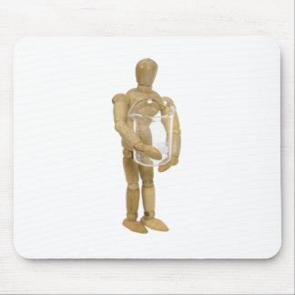 HoldingSingleBeaker013110 Mousepad