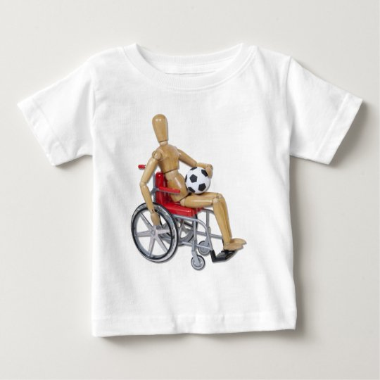 HoldingSoccerBallWheelchair Baby T-Shirt