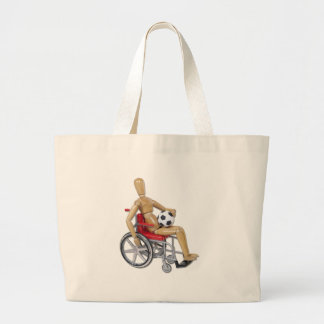 HoldingSoccerBallWheelchair Tote Bags