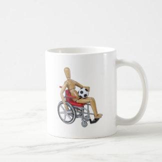 HoldingSoccerBallWheelchair Classic White Coffee Mug