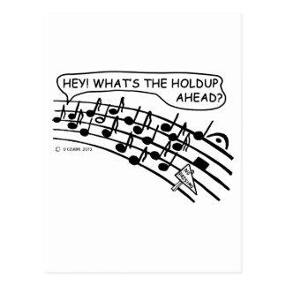 Holdup Ahead Postcard