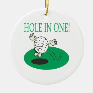 Hole In One Ceramic Ornament