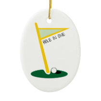 Hole In One Ceramic Ornament