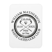 Hole in One Classic Personalised Golf Magnet