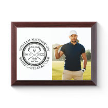 Hole in One Classic Personalized Photo Golfer Golf Award Plaque