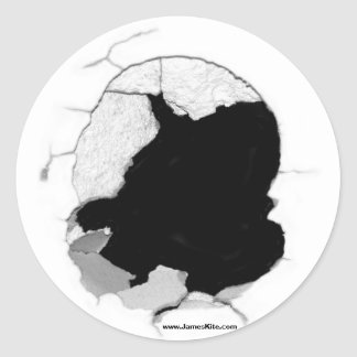 Hole in One Classic Round Sticker