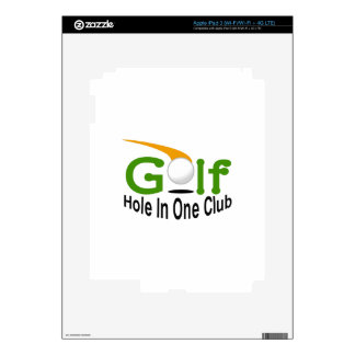 Hole In One Club Decal For iPad 3