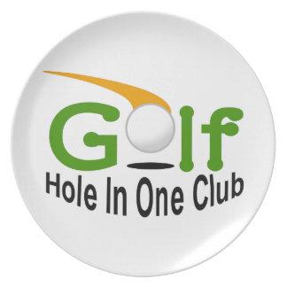 Hole In One Club Melamine Plate
