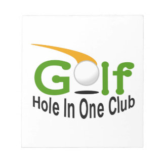 Hole In One Club Notepad
