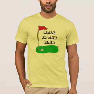 Hole in One Club Personalized Golf Custom Sports T-Shirt