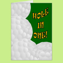 Hole in One Congrats! Golf Success Card