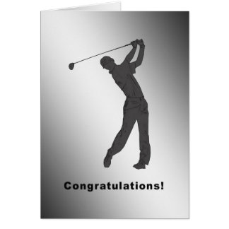Hole-in-one Congratulations Card for Golfer
