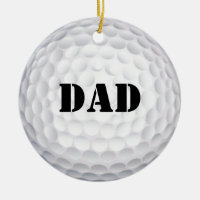 Hole In One! Golf Ball Ceramic Ornament