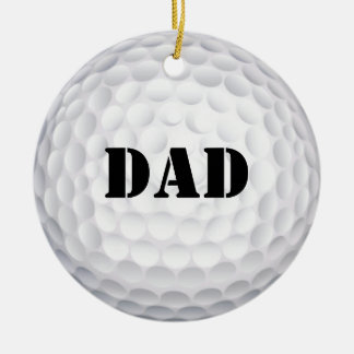Hole In One! Golf Ball Double-Sided Ceramic Round Christmas Ornament