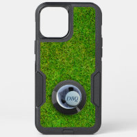 Hole in One Golf Ball Monogram Green Golfing OtterBox Commuter iPhone 12 Pro Max Case